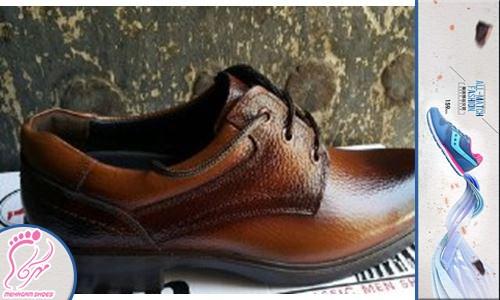 خرید اینترنتی کفش چرم طبیعی مردانه