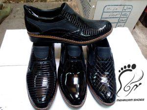 کفش مردانه ورنی تبریز